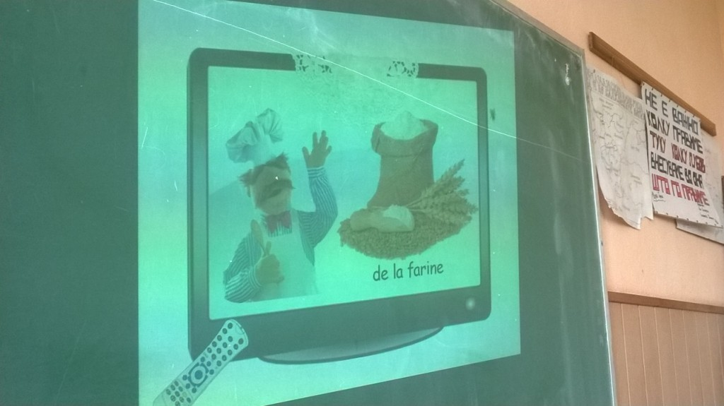 French vocabulary for food and drinks presented by Swedish Chef