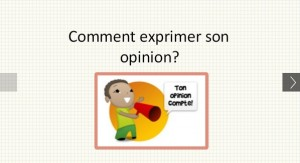 giving opinion in French