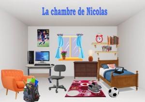 la chambre de Nicolas, jeu